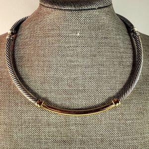 David Yurman 5mm Metro Cable SS/14K Gold Necklace